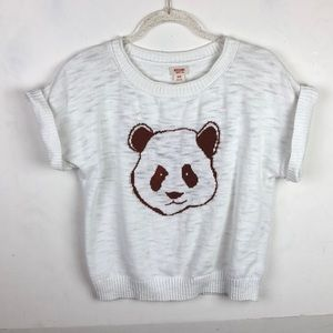 Mission Panda Short Sleeve Sweater Burnout Cuffed
